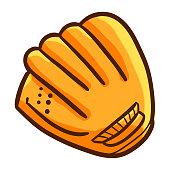 Funny baseball glove - vector.