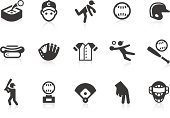 Simple baseball related vector icons for your design and application. Files included: vector EPS, JPG, PNG.