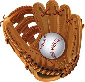 vector leather baseball glove