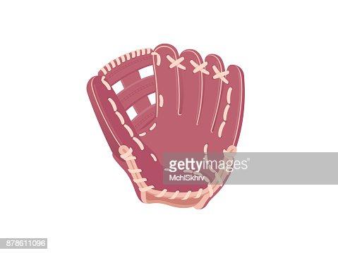 Baseball protection glove : stock vector