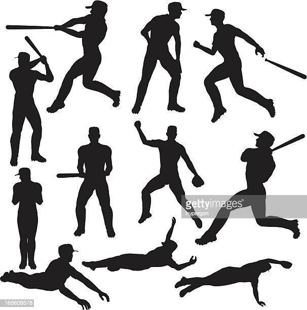 Colección de silueta de béisbol