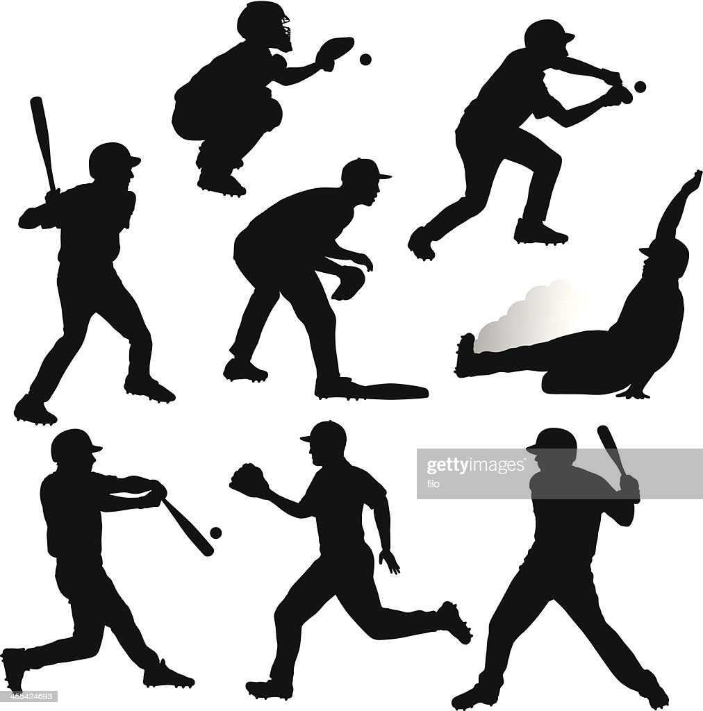 free clipart baseball player silhouette - photo #45