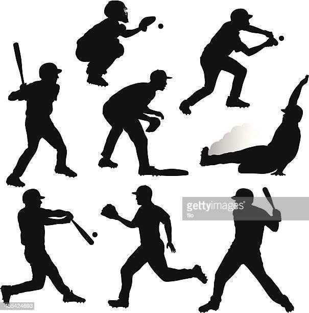 Siluetas de béisbol
