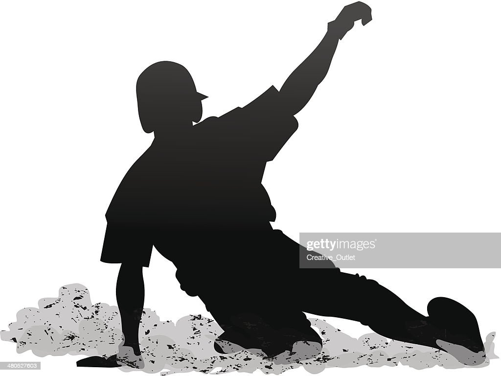 Baseball Slide : Vector Art