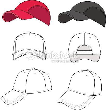 Baseball Und Tennis Cap Stickerei Vorlage Vektorgrafik | Thinkstock