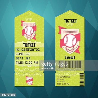 Baseball Ticket Design Template Retro Style Vector Art | Thinkstock
