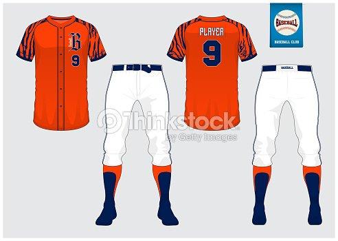 baseball uniform sport jersey tshirt sport short sock template
