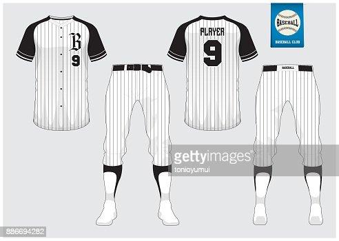 Baseball Tee Template | Baseball Uniform Sport Jersey Tshirt Sport Short Sock Template