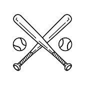 baseball vector icon logo baseball bat cartoon illustration symbol clip art