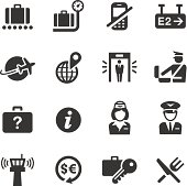 Vector illustration, Each icon can be used at any size.