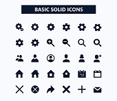 Basic web vector icons, eps 10