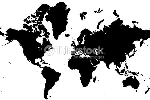 Basic World Map Vector Shape Vector Art | Thinkstock