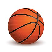 Basketball ball isolated on white background. Realistic vector Illustration
