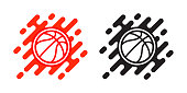 Basketball ball vector icon isolated on white background. Basketball logo design. Sport logo.