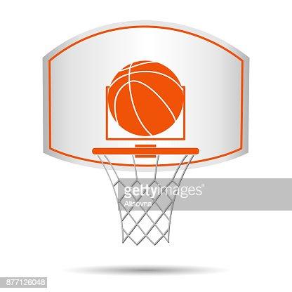 Basketball basket, hoop, ball : stock vector