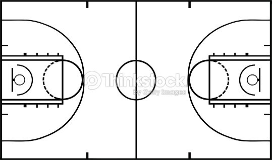 terrain de basketball clipart vectoriel thinkstock. Black Bedroom Furniture Sets. Home Design Ideas