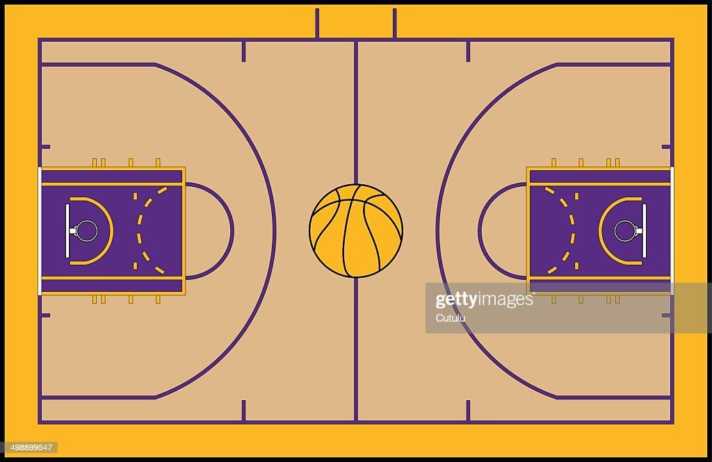 basketball court vector art thinkstock rh thinkstockphotos ae basketball court vector logo basketball court vector art