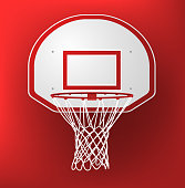 Basketball Hoop vector illustration.