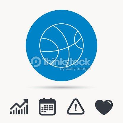 Basketball icon. Sport ball sign.