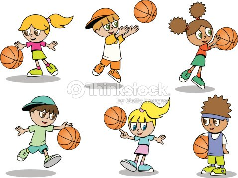 Basketball Kinder Vektorgrafik | Thinkstock