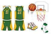 The basketball game equipment set