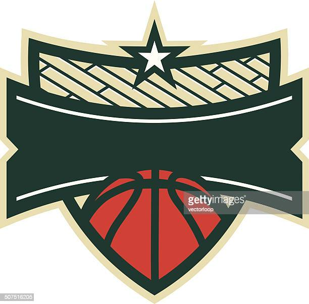 Basketball Shield Logo