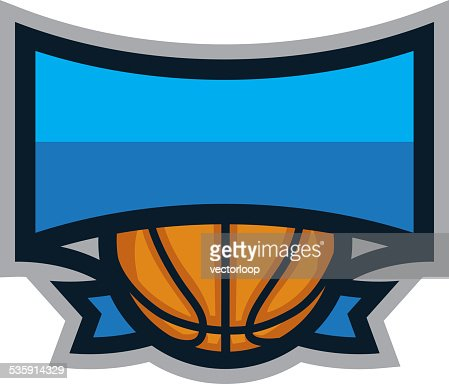 Basketball Shield Logo : Vector Art