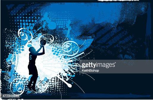 Basketball splash background girls vector art getty images - Basketball wallpapers for girls ...
