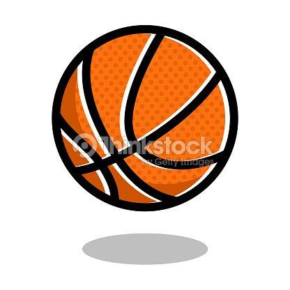 Basketball sport ball logo vector line 3d icon