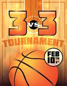 A basketball tournament flyer or poster perfect for basketball announcements, games, tournaments, camps, and more. Vector EPS 10. File is layered for easy separation of text from the background.