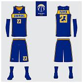 Download Basketball Uniform Or Sport Jersey Shorts Socks Template ...