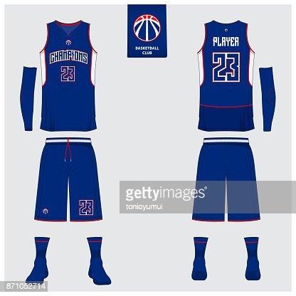Basketball Uniform Template Design Tank Top Tshirt Mockup For