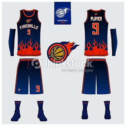 27f560fd81cb Basketball uniform template design. Tank top t-shirt mockup for basketball  jersey. Front view and back view basketball shirt. Vector.