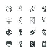 Basketball vector icon set