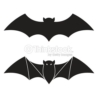 Fledermaus Vektor Icon Doodle Halloween Abbildung Vektorgrafik