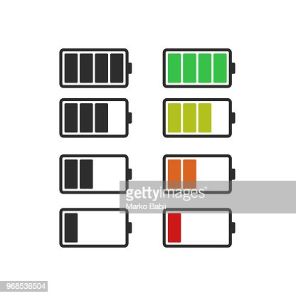 Batery icon, vector flat design : stock vector