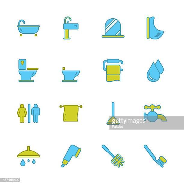 Bath and Bathroom - Outline Series