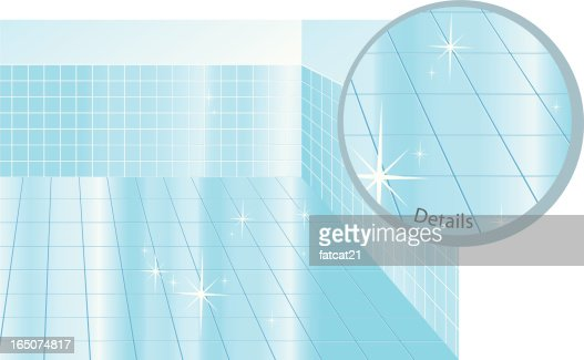 Excellent Vector Blue Tile Wall  Stock Vector  Yuliaglam 17145097