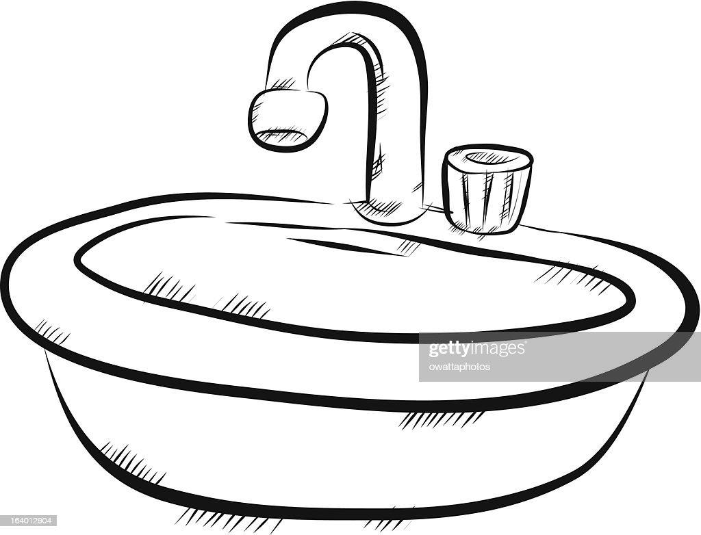 Image Gallery Sink Drawing