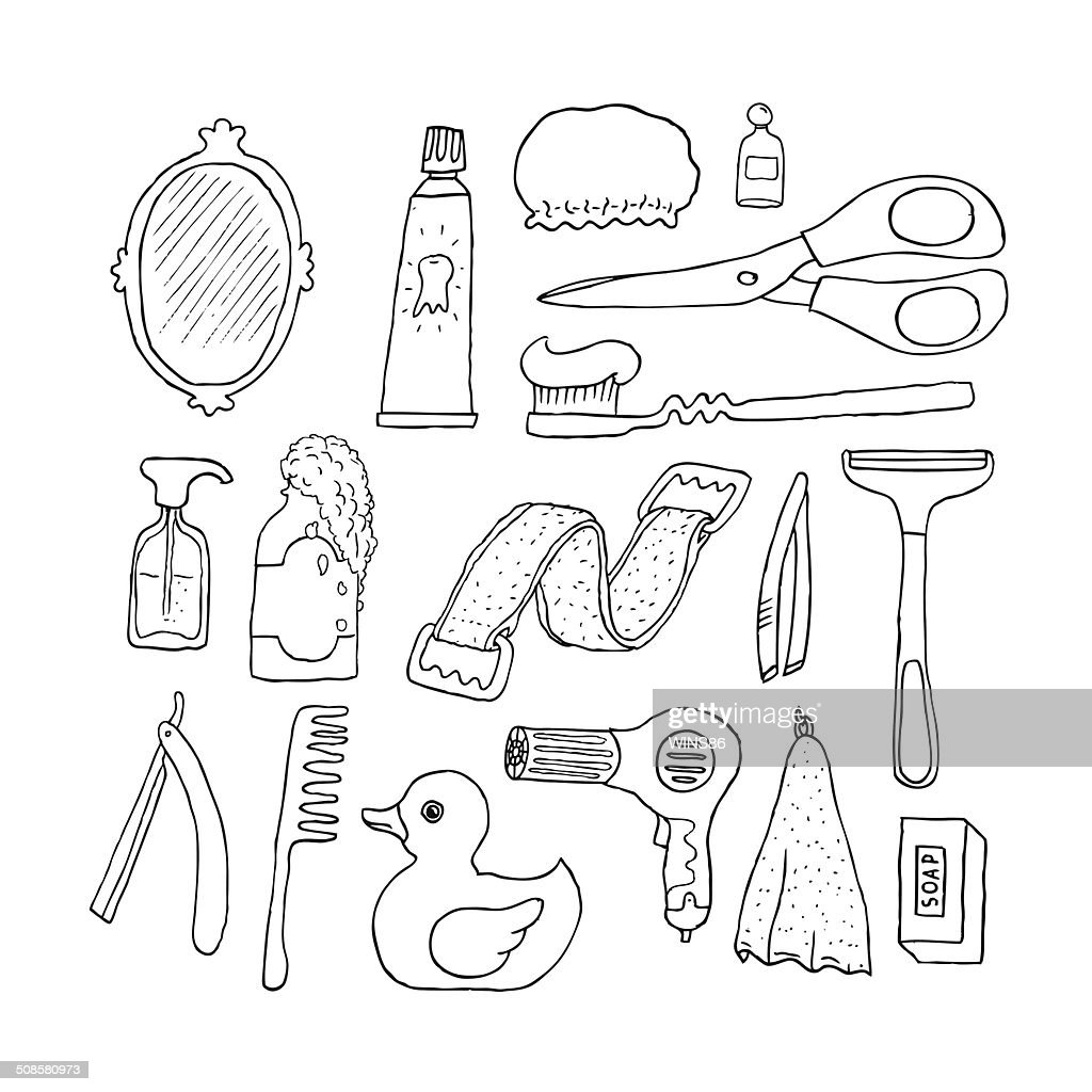 Bathroom. Cosmetics objects. : Vectorkunst