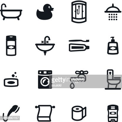1. Bath And Bathroom Icons Color Series Eps10 Vector Art   Getty Images