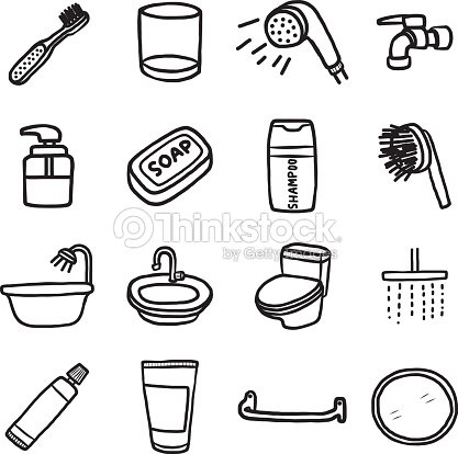 Bathroom Objects Or Icons Set Stock Vector Thinkstock
