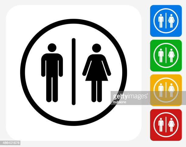 Bathroom Sign Icon Flat Graphic Design