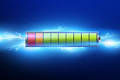 batteries with electric charge,pulse.lightning and electricity.vector illustration
