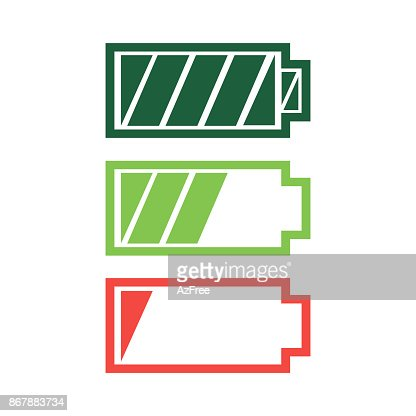 Battery charge status icon vector : stock vector