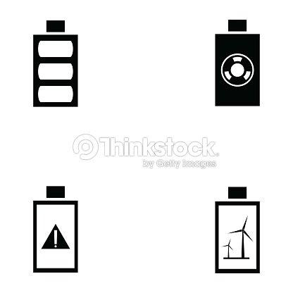 Batterieiconset Vektorgrafik | Thinkstock