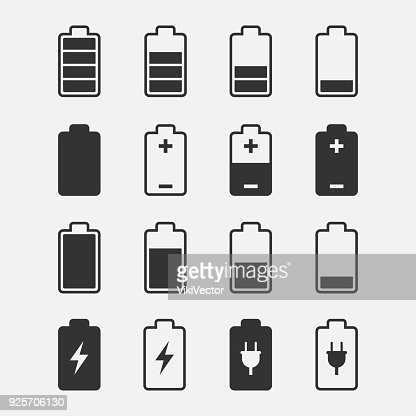 Battery Icons vector set : stock vector
