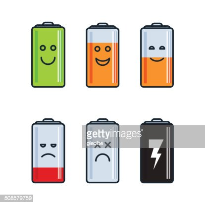 Battery indicator icons : Vectorkunst
