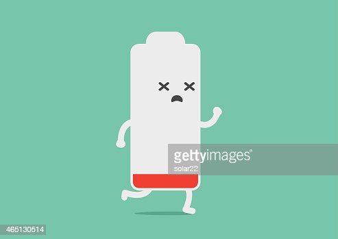 Battery low energy to running : stock vector