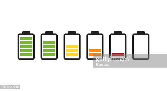 Battery running out of charge icon : stock vector